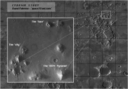 A photograph of Cydonia, Mars (Click to enlarge)