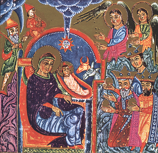 The nativity and Theophany of our Lord Jesus Christ - Ancient Armenian Illuminated Manuscript