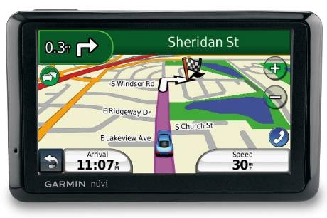The Garmin nuvi 1310 GPS offers Bluetooth functionality, recognizes spoken street names and displays speed limits.