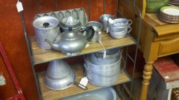Most all the old aluminum pots and pans are still ready to serve another generation.