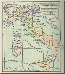 Fractured Italy in 1848