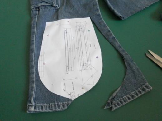 Cut fabrics according to pattern.