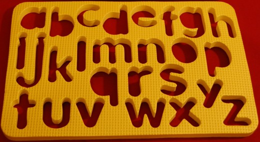 Lowercase alphabet foam puzzle from Dollar Tree