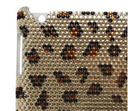 Leopard Bling Rhinestone Case for Apple iPad 2