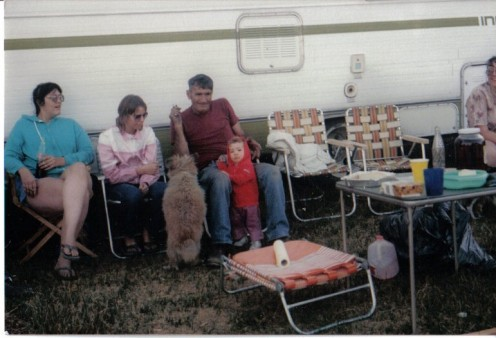 R-L My dad, niece Raschel, my dog Beau, cousin Teresa, myself.