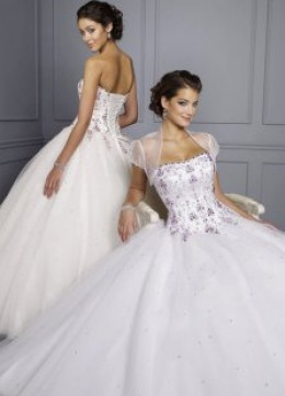 Ball Gowns with Beaded Embroidery (Satin/Organza)