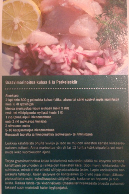 how to prepare marinated fish (in FINNISH)