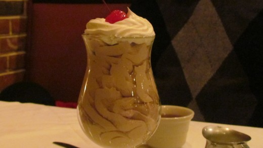 Our meal ended with a light and creamy chocolate mouse for desert.