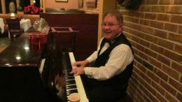 """Our pianist for the evening played, """"I Love You,"""" by Lionelle Riche as we completed our family dinner out."""