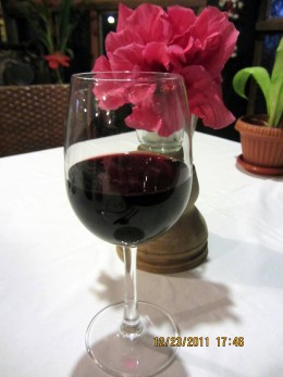 cheers with Spanish wine