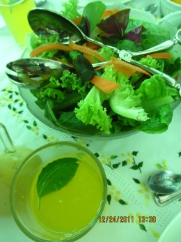 Fresh Salad and a Pitcher of Squeezed Dalandan Juice