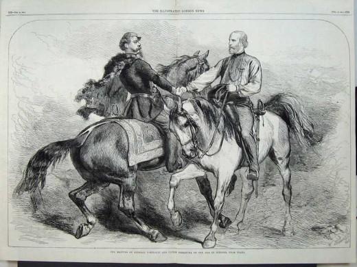 Garibaldi and King Victor Emmanuel II meet