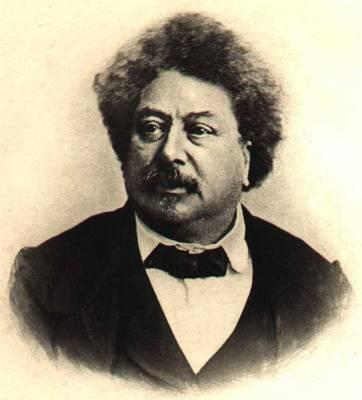 Alexandre Dumas, who, as a man, the forge dislikes as a mongrel, effectively celebrating the author he enjoys and admires from the physical man he meets and shares food with on the way to Sicily.