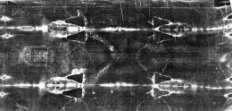 A ventral view of the shroud of Turin.