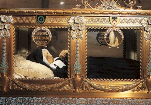 the incorruptible body of Saint Bernadette