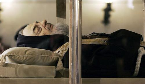 the incorruptible body of Saint Padre de Pio