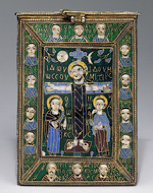 A reliquary of the True Cross, Byzantium (Constantinople), late 8th-early 9th century