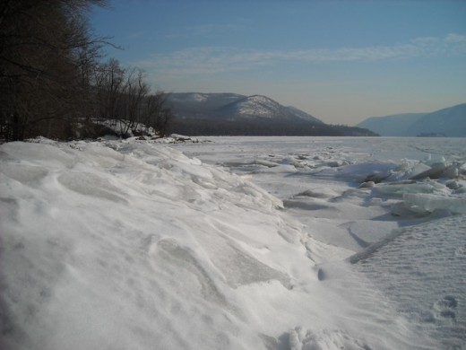 Hudson River in Winter