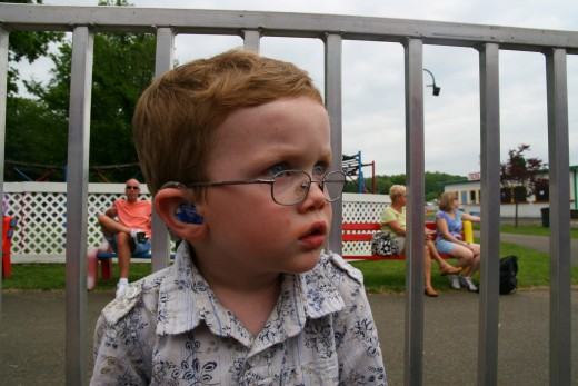A simple pair of glasses saved our son's eyesight in his right eye.
