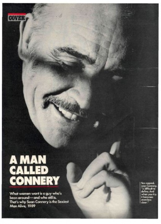 People Magazine, 1989 Sean Connery, the sexiest man alive, just weeks before his 60th birthday.