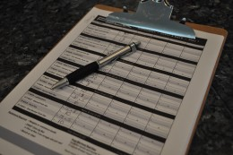 Tony Horton encourages that you keep track of everything. It is another way to mark your successes. Having a clipboard is a nice way to keep it organized. The sheets to track your workouts are available for free on BeachBody.com.