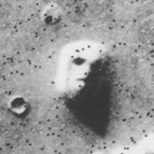 """The Face on Mars"" from Viking frame 35A72"