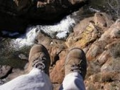 You probably shouldn't dangle your feet over a cliff. It's not safe!
