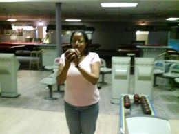 That's me candlepin bowling