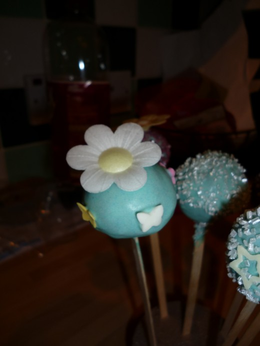 Using imagination and food colourings you can make some great looking cake pops, just have fun.