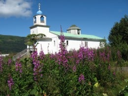 An old Russian church in Larsen Bay used during special holidays.