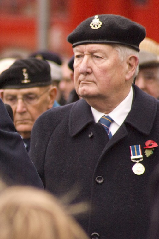 Old soldiers are still deserving of honour.