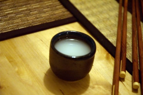 Nigori sake, unfiltered Japanese rice wine