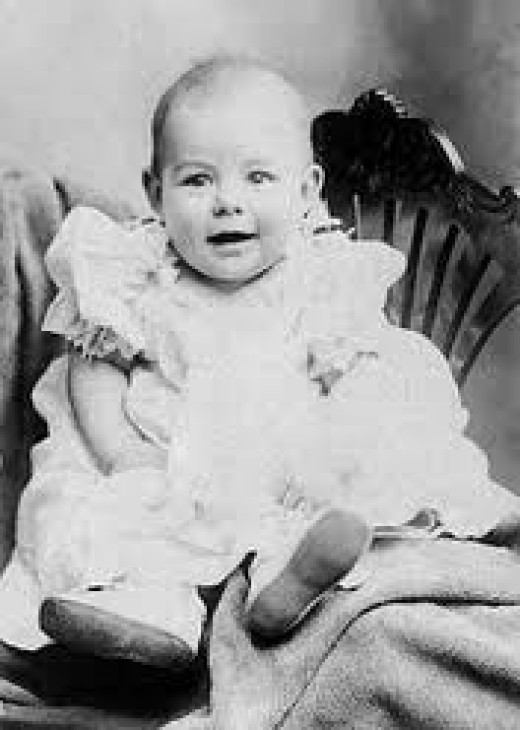 Ernest Hemingway as an infant.