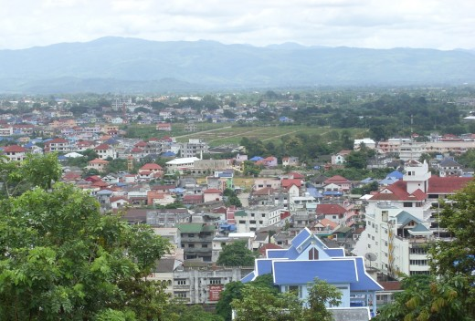 Mae Sai, on the Thai-Burmese border is the most northerly town in Thailand.