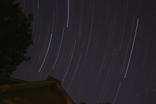 Star Trails at my House