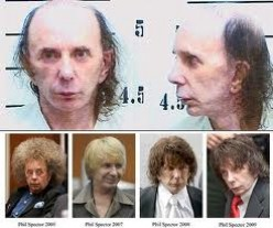 EVEN FORMER MUSIC PRODUCER, AND CONVICTED-MURDERER, PHIL SPECTOR, IS NOT IMMUNE TO THE SHAME OF BEING CAUGHT RUGLESS.