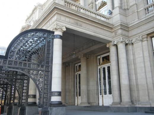 Entrance, Teatro Colon