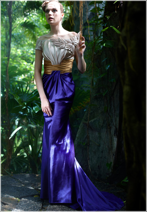 Dressesforus.com Dramatic Tri Color Fashion Dress CODE: CF56302