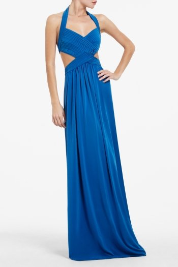 BCBG JORDANA LONG CUTOUT DRESS ACJ6P742-B4T $388.00