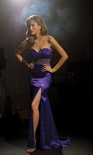 www.simplydresses.com Style: NM-6063  Name: Strapless Sweetheart Dress with Slit