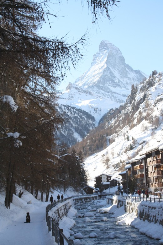 Background view of Matterhorn, Zermatt, Switzerland