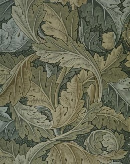 """""""Acanthus"""" wallpaper produced by Morris & Co. in 1875. Much of the Morris & Co. textiles and wallpapers have been reproduced and are still popular"""