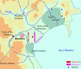 Map of the Battle of Marathon