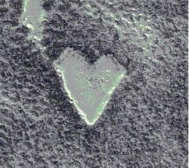 A heart-shaped mesa on Mars