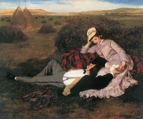 Lovers, by Pal Szinyei Merse - 1869