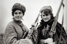 Female Soviet partisans in Nazi-occupied Ukraine.