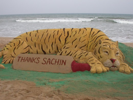 Sachin Tendulkar dedicated his 42nd century to the conservation of Tigers. Mr. Patnaik's attempt to thank him.