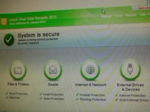 Quick Heal Total Security page