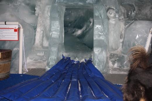 Glacier Palace Ice Slide Exit, Matterhorn, Switzerland