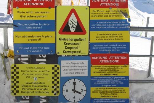 Attention!!!Crevasses!!